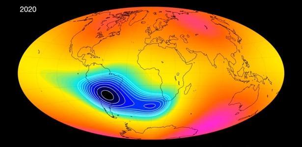 O campo magnético da América do Sul está enfraquecendo e pode afetar satélites - 28.05.2020