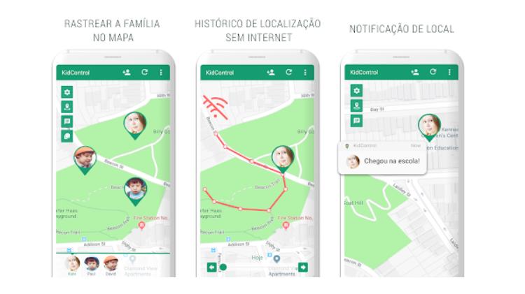 Faça o download desses aplicativos - Controle de crianças - Detecção - Detecção