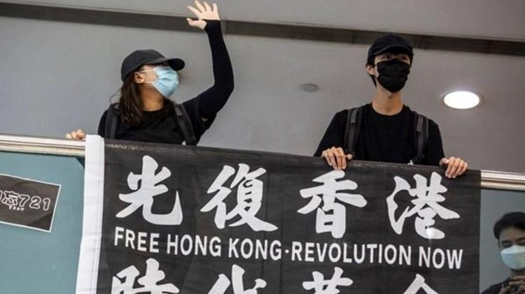 Manifestantes democratas pedem independência da região - ISAAC LAWRENCE / AFP - ISAAC LAWRENCE / AFP