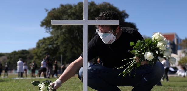 O Brasil tem 51.271 e 1.106.470 casos, segundo o Ministério da Saúde