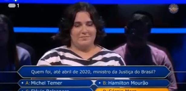 Mulher chama Jaira de 'Fora Bolsonaro' em programa de TV português - 7 de maio de 2020