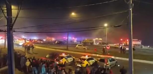 O acidente na BR-277 deixou pelo menos sete mortos no Paraná - 03.03.2020