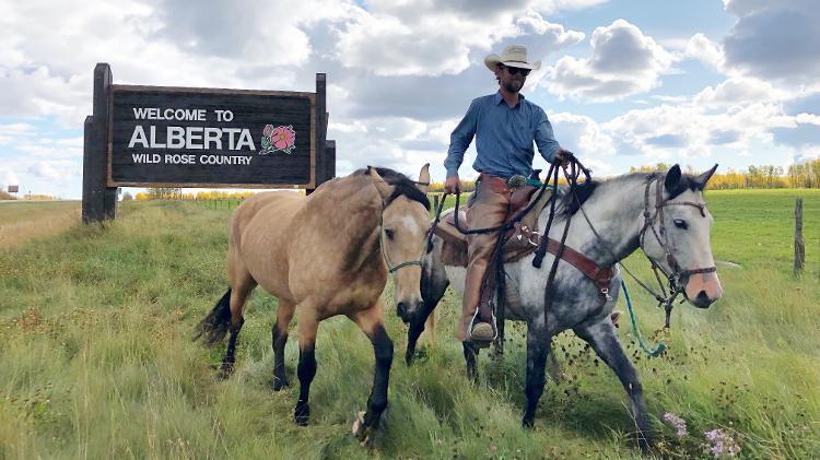 Cavaleiro da América - Philip sempre levava três cavalos que se transformavam em dias de descanso sem levar nenhum fardo ou subida - Arquivo pessoal - Arquivo pessoal