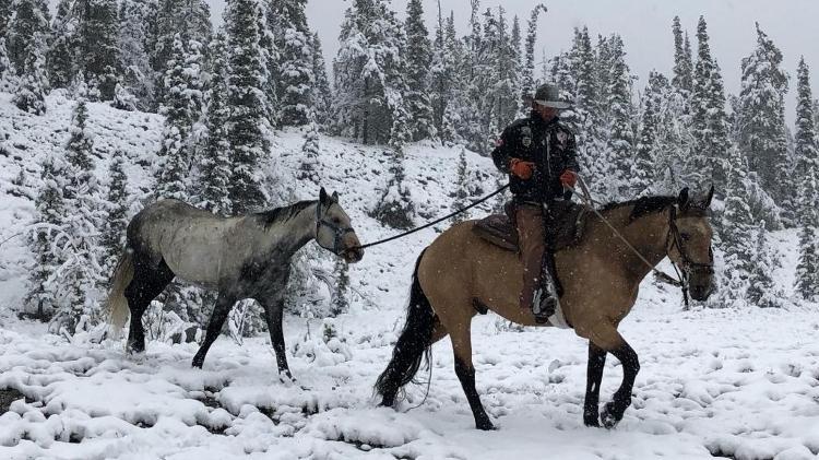 Cavaleiro da América - Na terra do fogo, no extremo sul da Argentina, cavalgando a baixas temperaturas - Arquivo pessoal - Arquivo pessoal