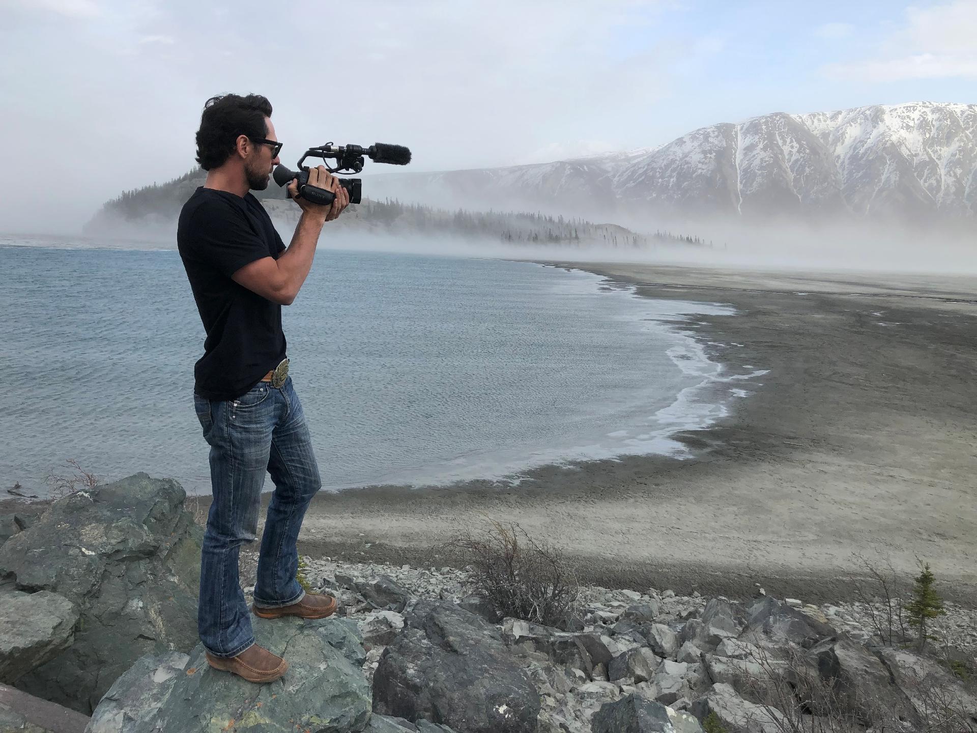Em Cluane Lake em Yukon, Canadá - Arquivo Pessoal