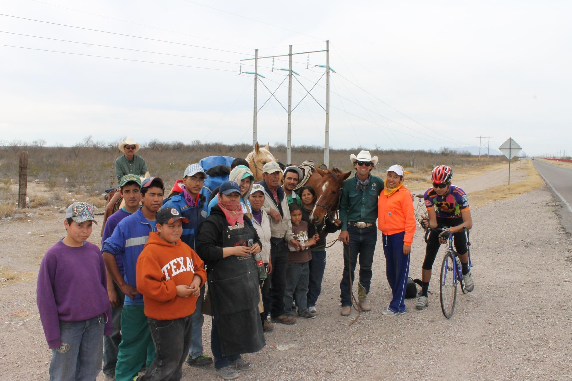 Encontro com moradores em Camargo, Chihuahua, México - Arquivo pessoal